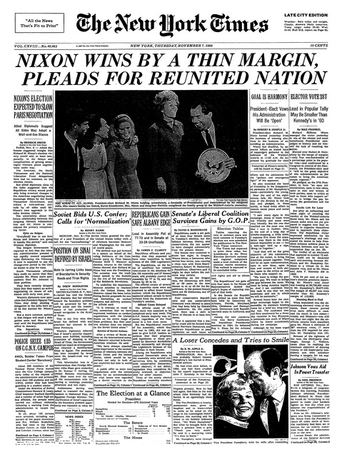 The New York Times 7 november 1968