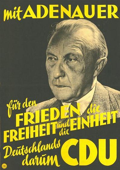 Valaffisch CDU 1949 Tyskland