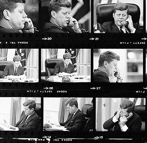 John F. Kennedy reacting to the news that Congolese leader Lumumba had been assassinated, in 1961. Credits- Jacques Lowe